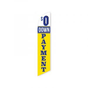 $0 Down Payment Feather Flag Banner