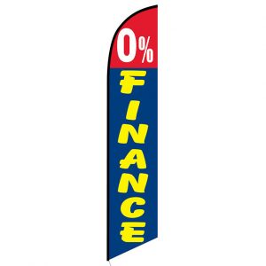 0% Finance Feather Flag Banner
