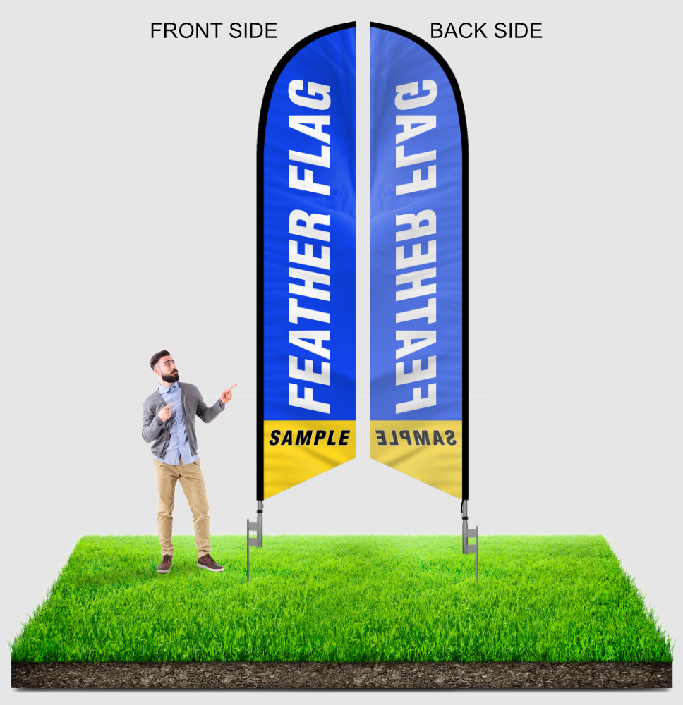 12ft feather flags sample single sided