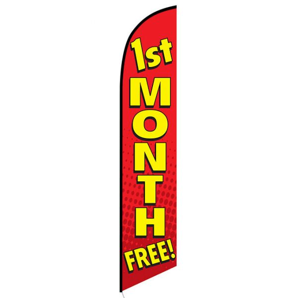 1st Month Free Feather Flag Banner