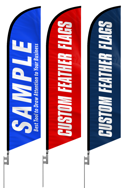 Custom feather banner flags