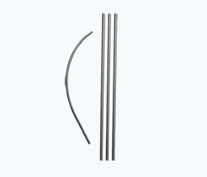 pre-curved solid poles for feather flags