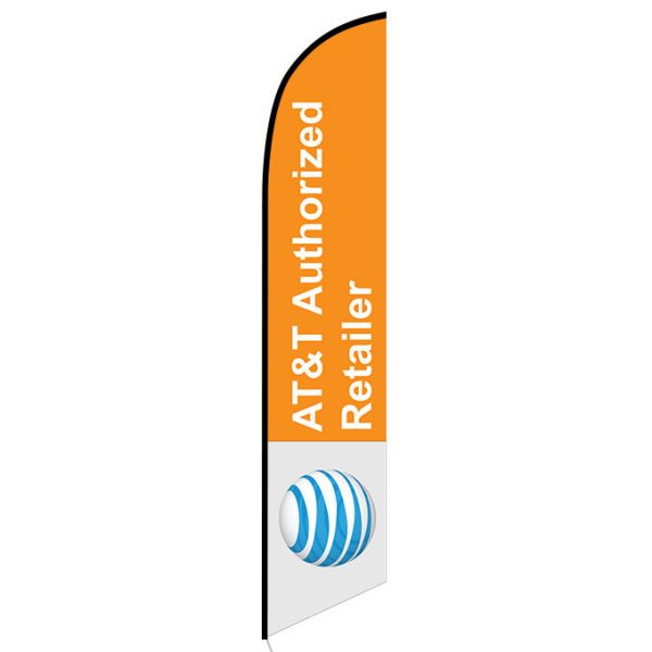 AT&T Authorized Retailer Feather Flag Banner