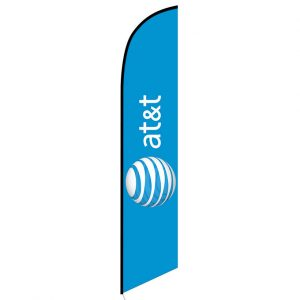 AT&T Wireless blue Feather Flag Banner