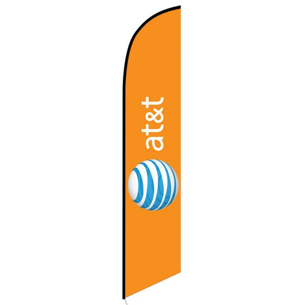 AT&T Wireless orange Feather Flag Banner