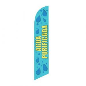 Agua Purificada Feather Flag Banner