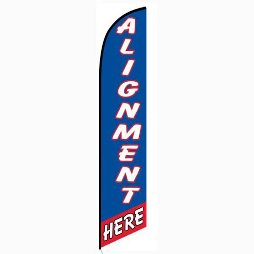 Alignment Here Blue and Red Feather Flag Banner