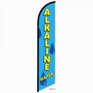 Alkaline Water Feather Flag Banner