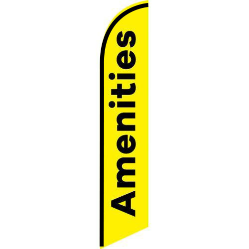 Amenities Feather Flag Banner