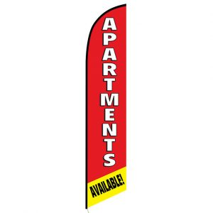 Apartments available Feather Flag Banner