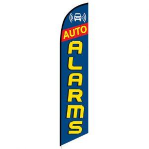 Auto Alarms blue  Banner Flag
