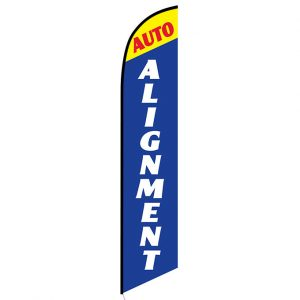 Auto Alignment Blue and Yellow Banner Flag