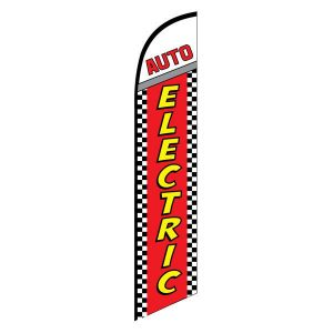 Auto Electric Feather Flag Banner