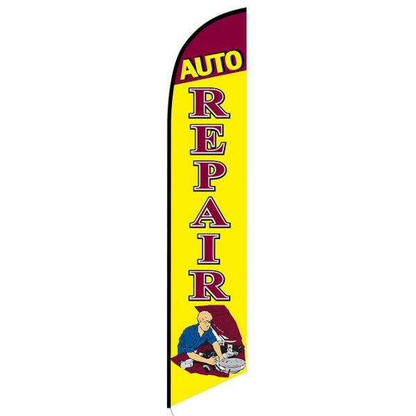 Auto Repair Mechanic Banner Flag