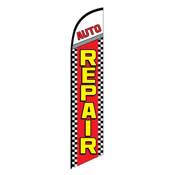 Auto Repair Advertising Flag
