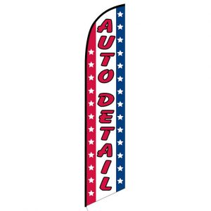 Auto detail American Feather Flag Banner