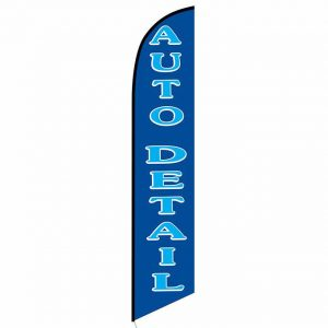 Auto detail blue banner flag