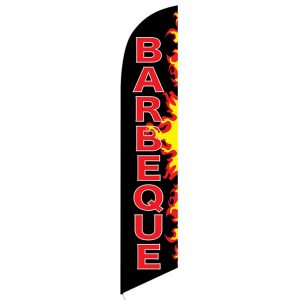 Barbeque Flames Feather Flag Banner