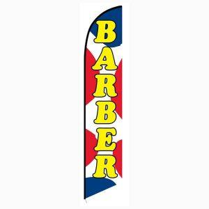 Barber Shop Feather Flag Banner