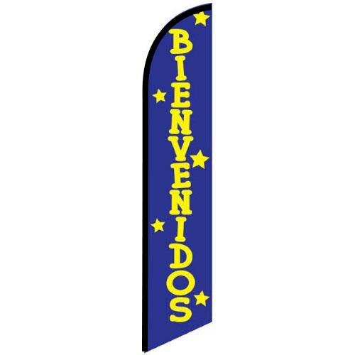 Bienvenidos Feather Flag Banner