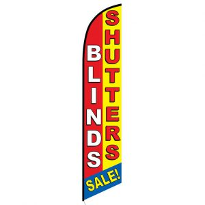 Blinds and Shutters Feather Flag Banner