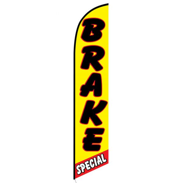 Brake Special Yellow and Red Feather Flag Banner