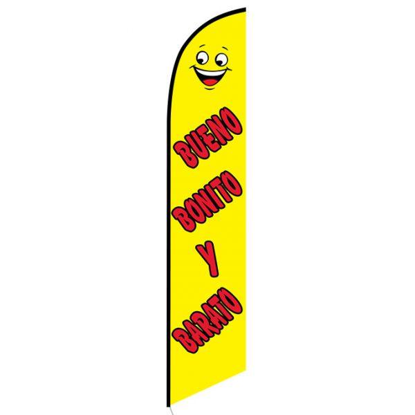 Buenos Bonito Y Barato Feather Flag Banner