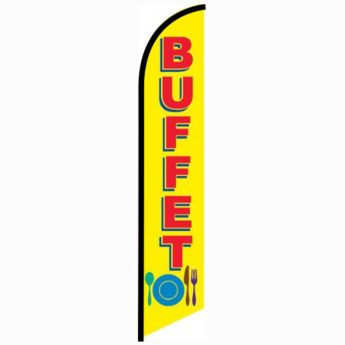 Buffet Feather Flag Banner