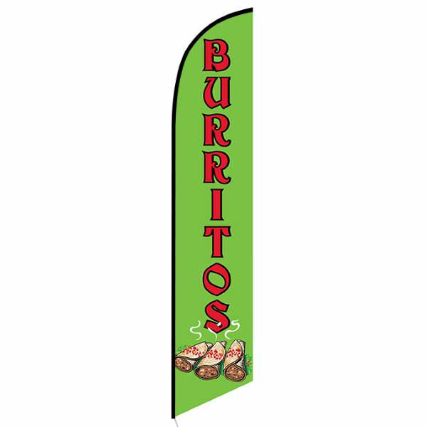 Burritos Feather Flag Banner