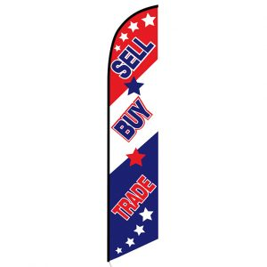 Buy Sell Trade Feather Flag Banner