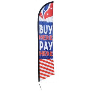 Buy Here Pay Here Feather Flag Banner FFN-5848