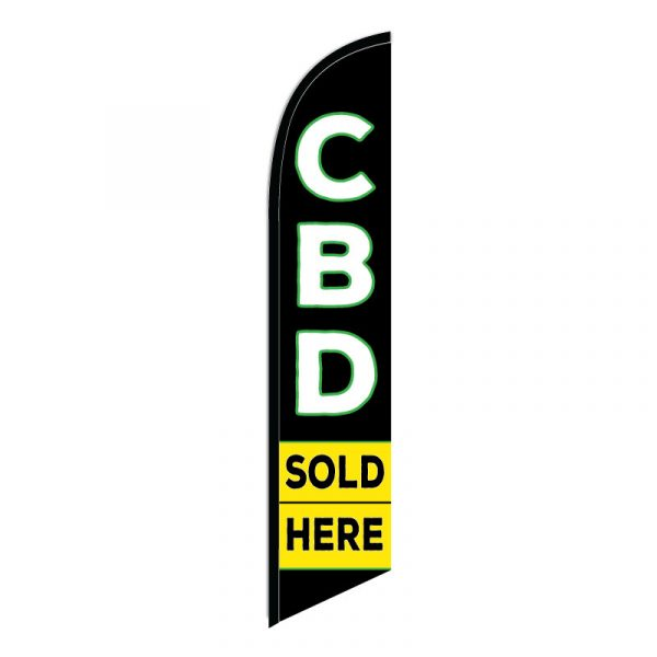 CBD Sold Here Feather Flag Banner
