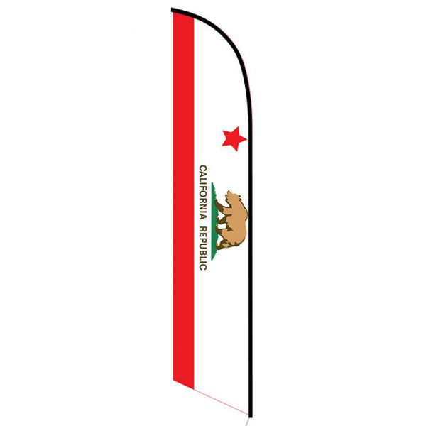 California State Feather Flag Banner