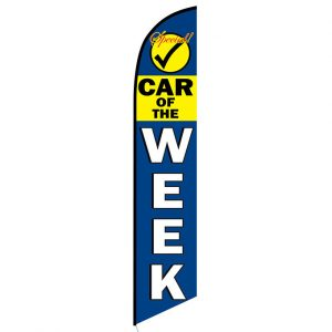 Car of the Week Feather Flag Banner