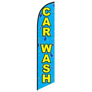 Car wash bubbles Feather Flag Banner