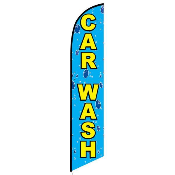 Car wash bubbles Feather Flag Banner