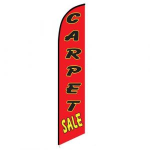 Carpet Sale red Feather Flag Banner