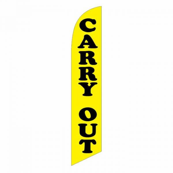 Carry Out Feather Flag Banner