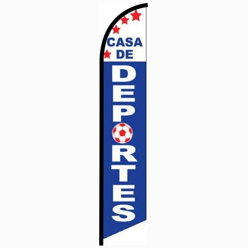 Casa de Deportes Feather Flag Banner
