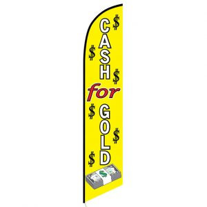Cash for gold Feather Flag Banner