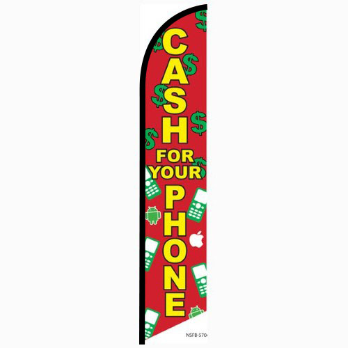 Cash for your phone Feather Flag Banner