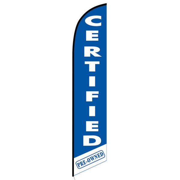 Certified Pre-owned blue Feather Flag Banner