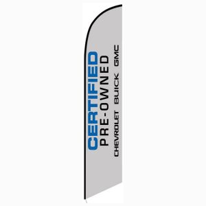 Chevrolet Buick GMC CPO Feather Flag Banner
