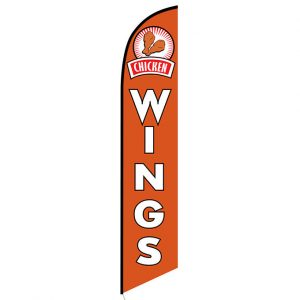 Chicken Wings Feather Flag Banner