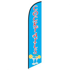 Cocktails Feather Flag Banner