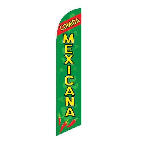 Comida Mexicana Feather Flag Banner