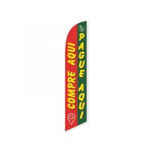 Compre Aqui Pague Aqui Feather Flag Banner
