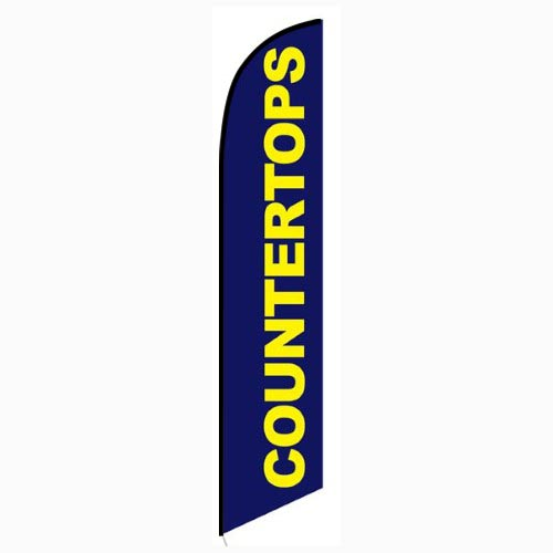 Countertops Feather Flag Banner