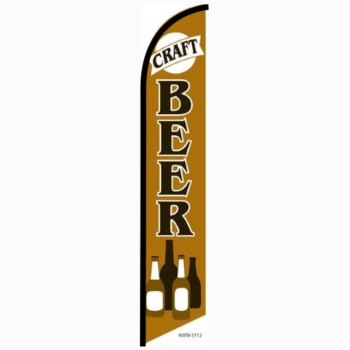 Craft Beer Feather Flag Banner