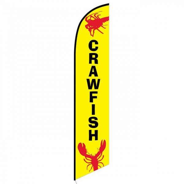 Crawfish Feather Flag Banner